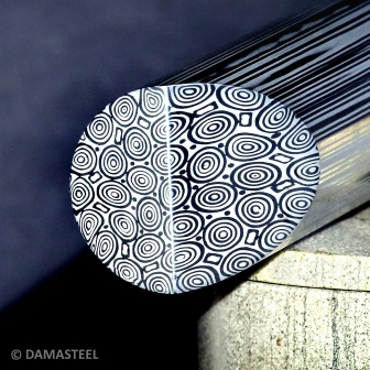 Damasteel Martensitic Damascus Round Bar