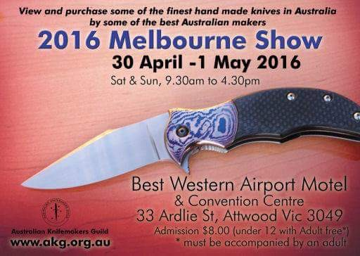 Australian Knifemakers Guild Show: Melbourne