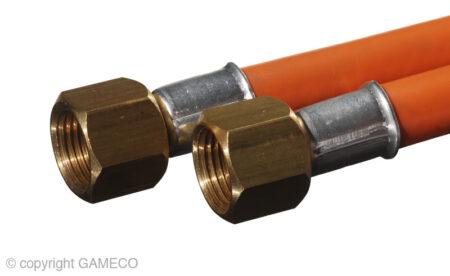"""Gas Forge Burner 3/8"""" Female Flare hose at 300mm"""