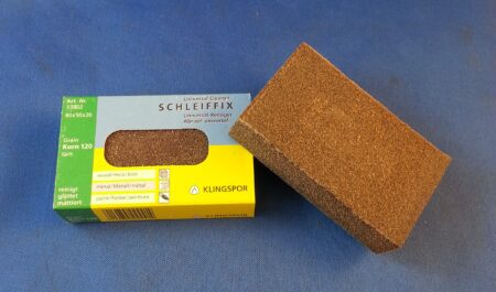 Rubber Sanding Block 120 Grit (80mm x 50mm x 20mm)