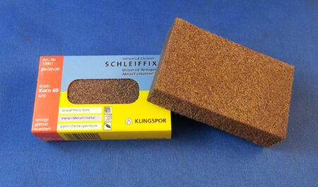Rubber Sanding Block 60 Grit (80mm x 50mm x 20mm)