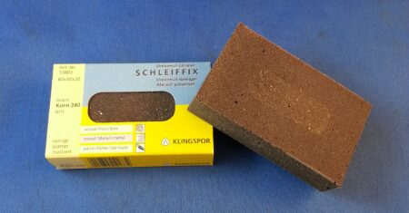 Rubber Sanding Block 240 Grit (80mm x 50mm x 20mm)