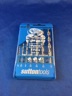 Sutton Viper Imperial Knife Pin Drill Set 7pcs 1/16-1/4""