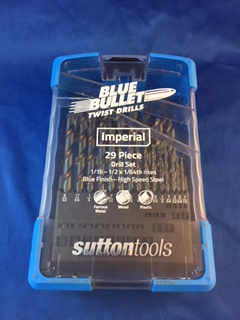"Sutton Blue Bullet Drill Set - 1/16"" to 1/2"" (Imperial - 29pc)"