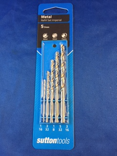 "Sutton Bright Knife Pin Drill Set - 1/16 to 3/16"" (Imperial - 5pc)"