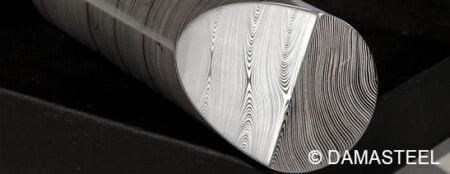 DAMASTEEL® DENSE TWIST™ 24MM ROUND STAINLESS DAMASCUS FOR JEWELLERY (AUSTENITIC)
