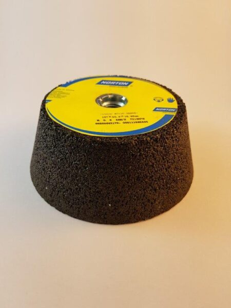 "Norton Flared Grinding Cup Wheel for 9"" angle grinder"