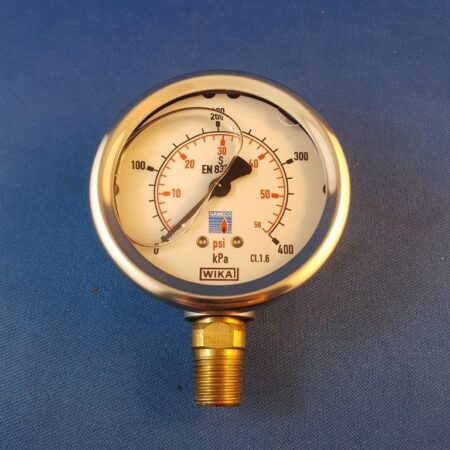 "0 - 400 Kpa Oil filled Gauge with 1/4"" inlet"