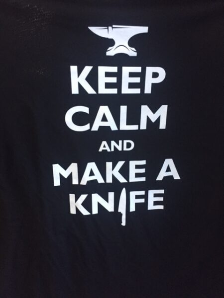 "T-Shirt ""Keep calm and make a knife"""