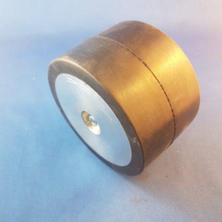 "Nitrile Rubber Drive Wheel 2.5"" wide x 4"" diameter 19mm shaft"