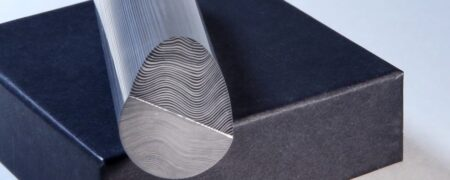 DAMASTEEL® PARALLEL LAYERS™ 33MM ROUND STAINLESS DAMASCUS (MARTENSITE)