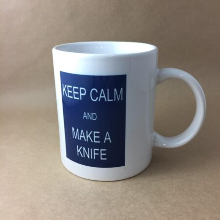 "Gameco Lad Coffee Mug ""KEEP CALM AND MAKE A KNIFE"""