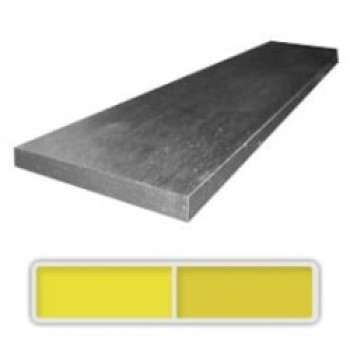 One bar of hot rolled CPM 154 stainless steel measuring 4.3 x 50 x 914 mm.