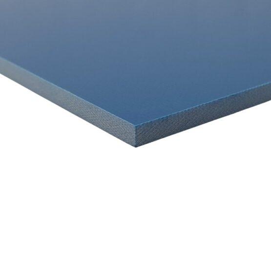 Blue sheet of G10 measuring 3.5 x 300 x 340 mm
