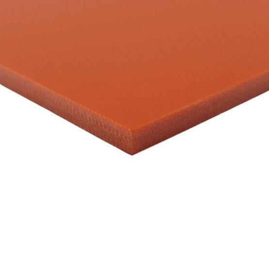 Orange sheet of G10 measuring 3.5 x 300 x 340 mm