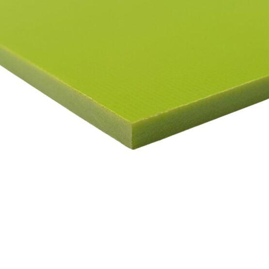 Toxic Yellow sheet of G10 measuring 3.5 x 300 x 340 mm