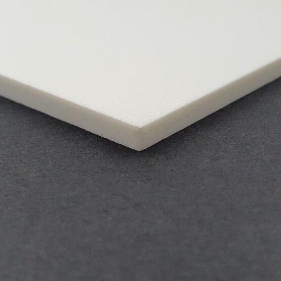 White sheet of G10 measuring 3.5 x 300 x 340 mm