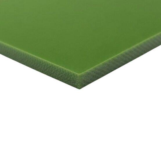 Toxic green sheet of G10 measuring 3.5 x 300 x 340 mm