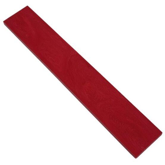 Gem red coloured Juma slab with a width of 50 mm