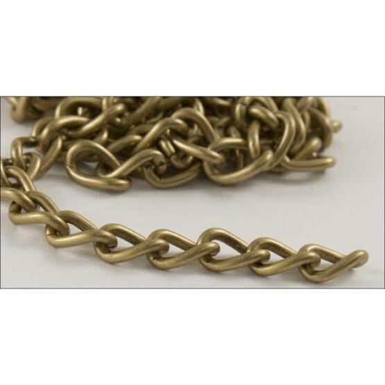 Steel Chain 2.5 x 914mm Antique Brass Plate