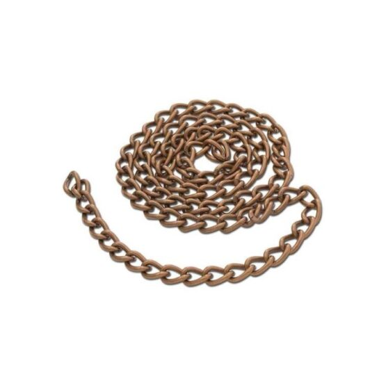 Steel Chain 2.5 x 914mm Antique Copper Plate