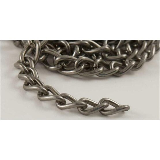 Steel Chain 2.5 x 914mm Antique Nickel Plate