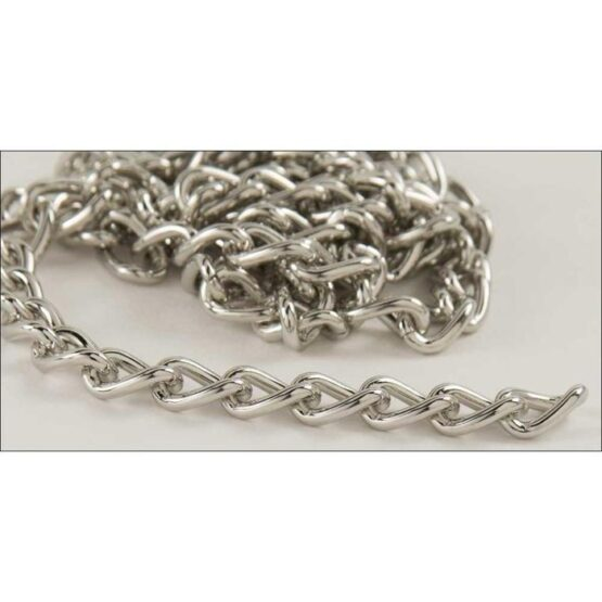 Steel Chain 2.5 x 914mm Nickel Plate