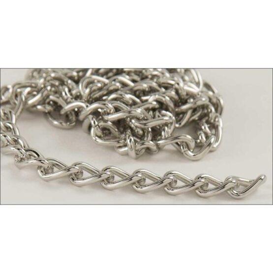 Steel Chain 2.5 x 914mm Nickel Plate