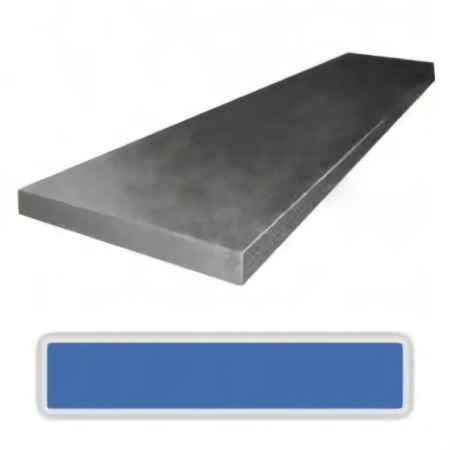 One bar of 1084 carbon steel measuring 2.4 x 50 x 1220 mm