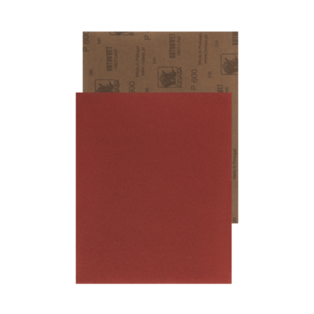 one sheet of Rhynowet Red Line Wet and Dry Sandpaper