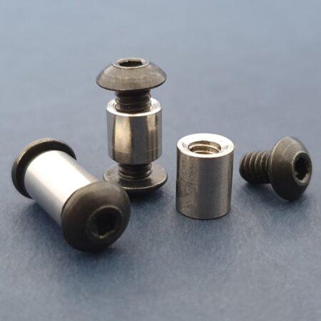 Button Head Socket Cap Screws 8-32 1/4″ Black Complete