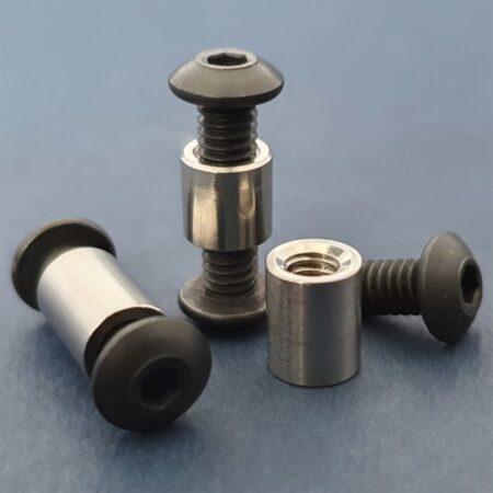"Button Head Socket Cap Screws 8-32 5/16"" Black Complete"