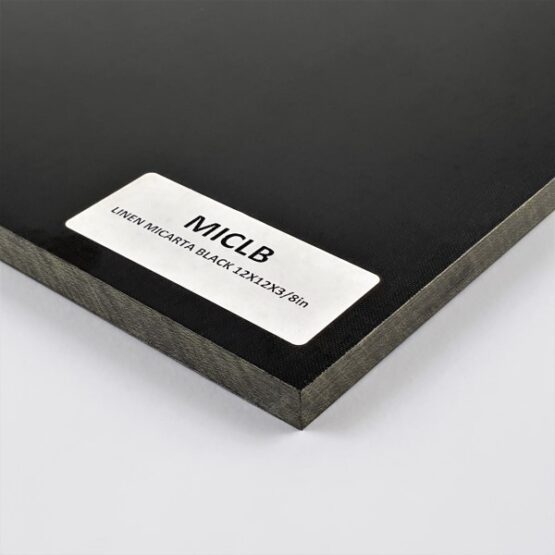 Linen Micarta Sheet Black