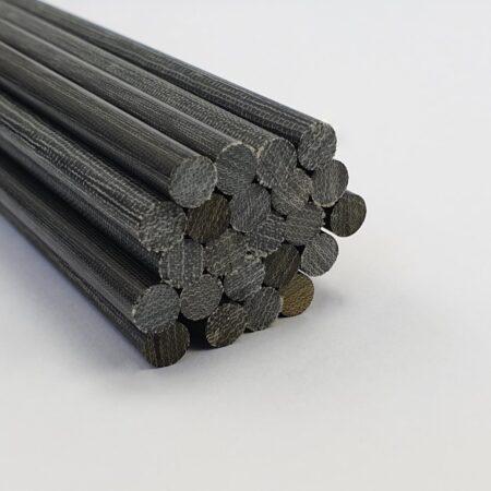 """Canvas Micarta Rod 6.35 mm (1/4"""") x 300 mm Black"""