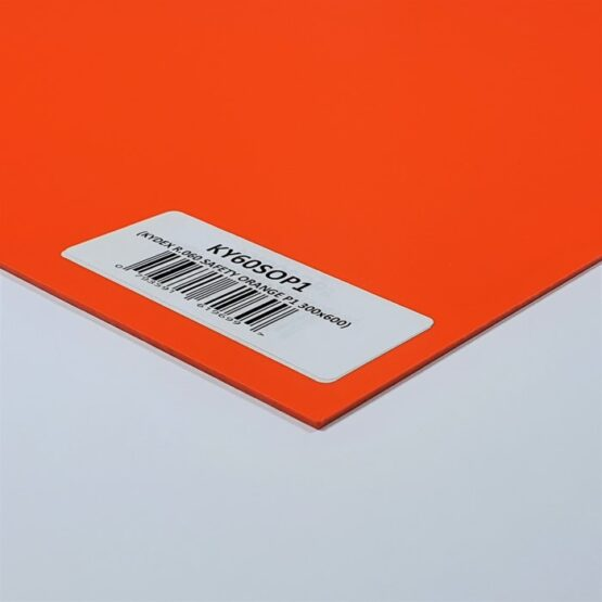 Kydex Sheet 1.5 x 300 x 600 mm Safety Orange