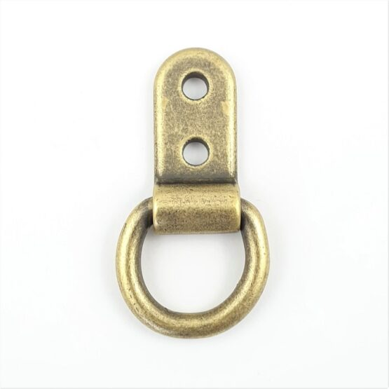 "Solid Clip Dee 5/8"" (15.875 mm) Antique Brass Plated"