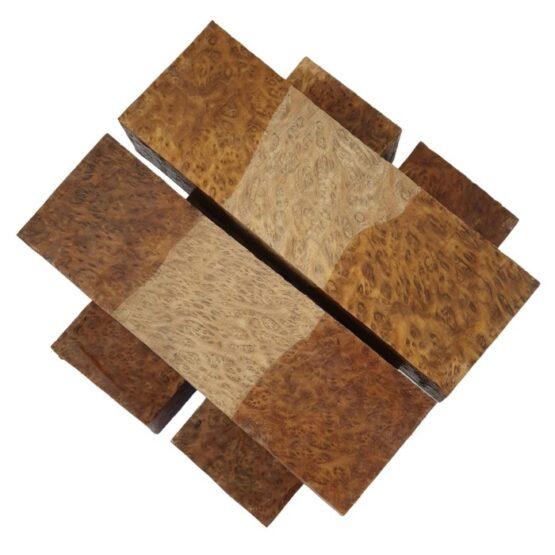 Brown Mallee Burl Handle Block 35 x 45 x 140 mm