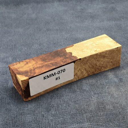 Stabilised Honduran Rosewood Burl Block #1 (34 x 36 x 149mm)