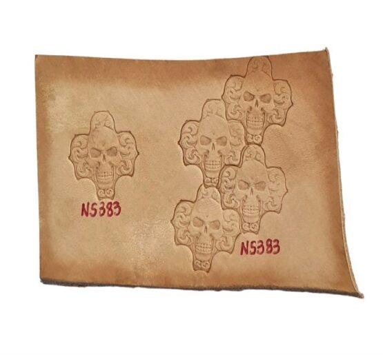 Leather Stamp Skull Tile #1
