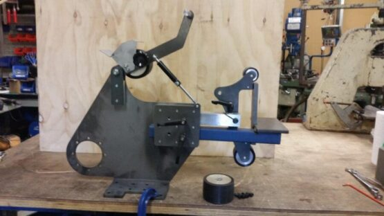 "Shop Master 72"" Flat Packed Grinder Body Only - No Motor from Side"