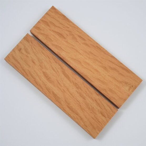 Sheoak Handle Scales each measuring approximately 10 x 42 x 140 mm