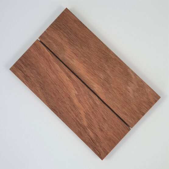 Blue Gum Handle Scales each measuring approximately 10 x 45 x 140 mm
