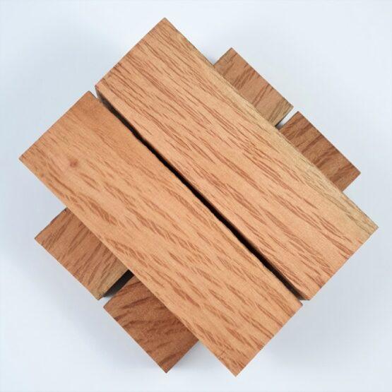 Buloke Handle Block measuring approximately 35 x 45 x 140 mm