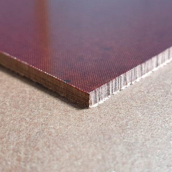 """Linen Micarta Sheet 3.17 (1/4"""") x 127 x 304 mm Maroon"""