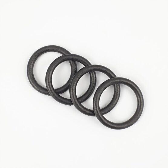 """O Ring Plastic 19mm (3/4"""") Black 4 Pack"""