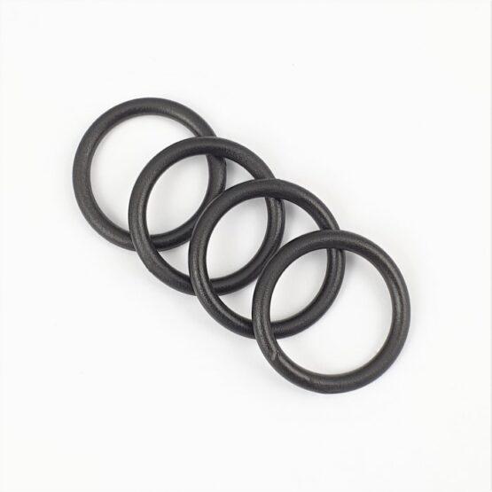 """O Ring Plastic 25mm (1"""") Black 4 Pack"""