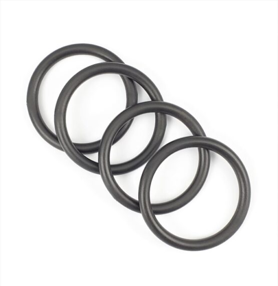"""O Ring Plastic 38mm (1-1/2"""") Black 4 Pack"""