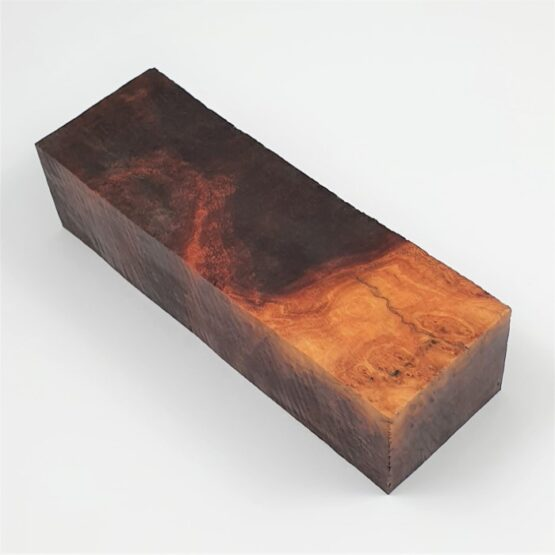 Red Mallee Burl Handle Block measuring approximately 35 x 45 x 137 mm