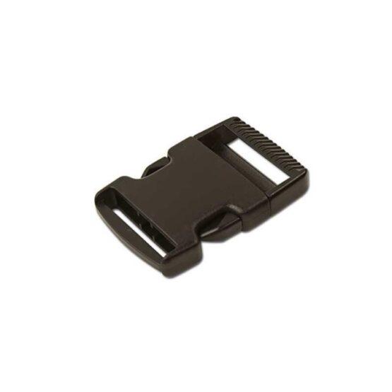 "Side Release Buckle Plastic 38 mm (1-1/2"") Black"