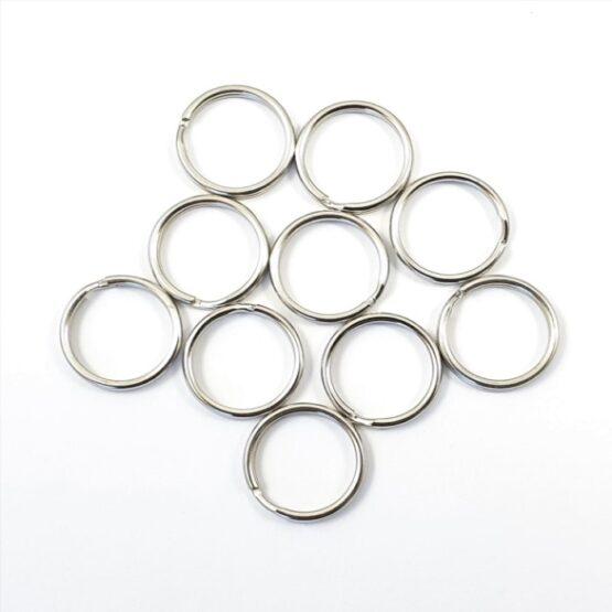 """Split Ring 12.7mm (1/2"""") Nickel Plate 10 Pack"""
